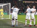 Chelsea's Fikayo Tomori celebrates scoring their second goal with Callum Hudson-Odoi on January 25, 2020