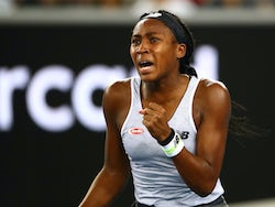 Coco Gauff in action at the Australian Open on January 20, 2020