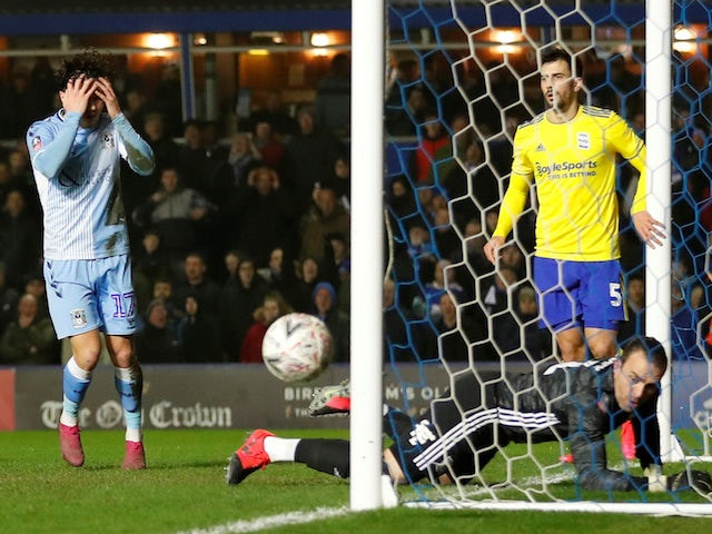 Result: Coventry earn FA Cup replay against landlords Birmingham