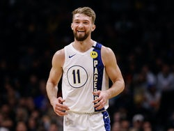 Domantas Sabonis in action for Indiana Pacers on January 19, 2020