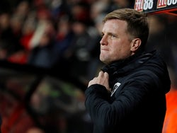 Bournemouth manager Eddie Howe before the match on January 21, 2020
