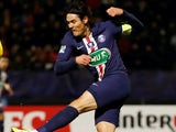 Edinson Cavani in action for PSG on January 5, 2020