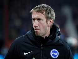 Brighton & Hove Albion manager Graham Potter before the match on January 21, 2020