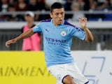 Ian Poveda in action for Man City on July 27, 2019