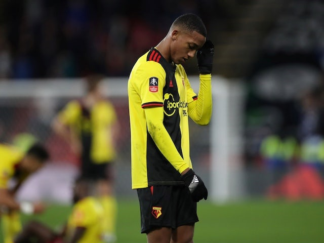 Joao Pedro in action for Watford in January 2020