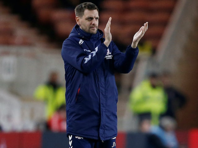Middlesbrough manager Jonathan Woodgate on January 21, 2020
