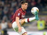 Krzysztof Piatek in action for Milan on September 21, 2019