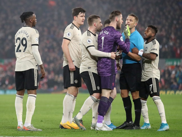 Manchester United charged for incident during Liverpool defeat