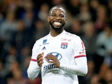 Lyon striker Moussa Dembele pictured in Ligue 1 action on November 2, 2019