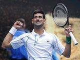 Novak Djokovic in action at the Australian Open on January 22, 2020