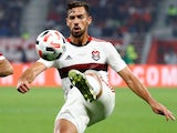 Pablo Mari in action for Flamengo in the Club World Cup on December 21, 2019
