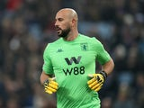 Aston Villa's Pepe Reina pictured on January 21, 2020
