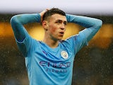 Manchester City's Phil Foden reacts on January 26, 2020
