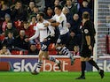 Preston North End's Tom Barkhuizen celebrates scoring their first goal on January 21, 2020