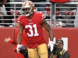 Raheem Mostert in action for the 49ers on January 19, 2020