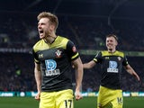 Southampton's Stuart Armstrong celebrates scoring their second goal on January 21, 2020