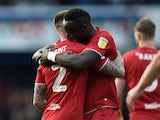Bristol City's Famara Diedhiou celebrates scoring their first goal on February 1, 2020