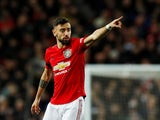 Manchester United's Bruno Fernandes reacts on February 1, 2020