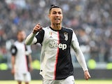 Juventus' Cristiano Ronaldo reacts on February 2, 2020