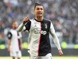 Juventus' Cristiano Ronaldo reacts on February 2, 2020