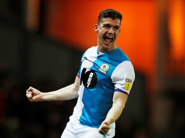 Blackburn's Darragh Lenihan celebrates scores their second goal on January 28, 2020