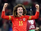 Wales' Ethan Ampadu celebrates after the match in November 2019
