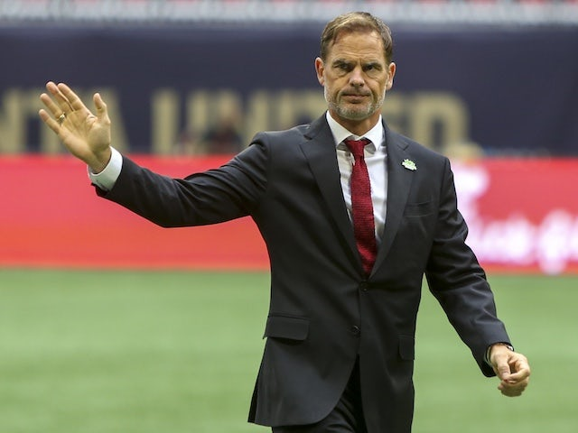 Atlanta United head coach Frank de Boer pictured in October 2019