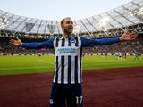 Brighton & Hove Albion's Glenn Murray celebrates scoring their third goal on February 1, 2020