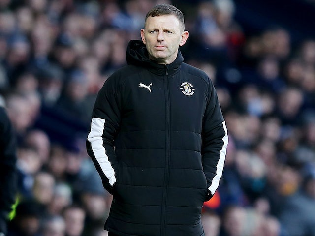 Luton Town boss Graeme Jones on February 1, 2020