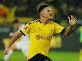 Borussia Dortmund attacker Jadon Sancho pictured in December 2019