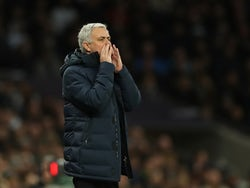 Tottenham Hotspur manager Jose Mourinho reacts on February 2, 2020