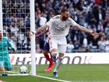 Karim Benzema celebrates opening the scoring for Real Madrid on February 1, 2020