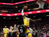 Los Angeles Lakers forward LeBron James (23) dunks the ball during the first quarter against the Sacramento Kings at Golden 1 Center on February 2, 2020