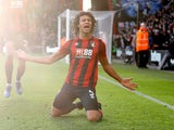 Nathan Ake celebrates scoring for Bournemouth on February 1, 2020