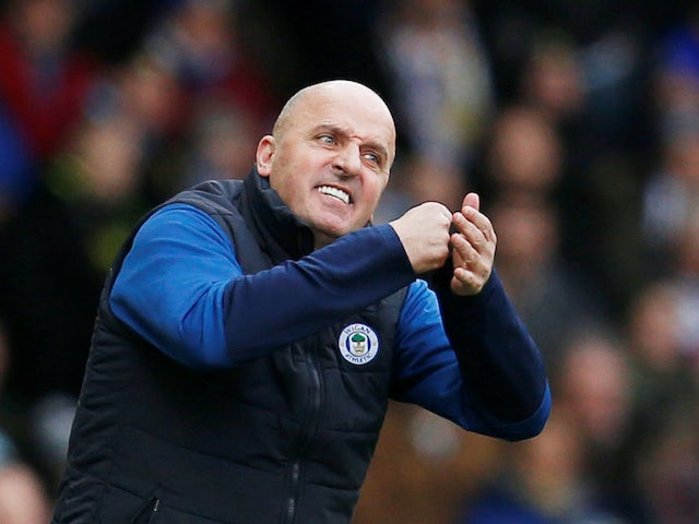 Wigan boss Paul Cook on February 1, 2020