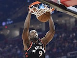 Serge Ibaka in action for the Raptors on January 30, 2020