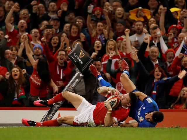 Wales winger Josh Adams ruled out for rest of Six Nations with ankle injury