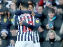 Callum Robinson celebrates scoring for West Brom on February 1, 2020