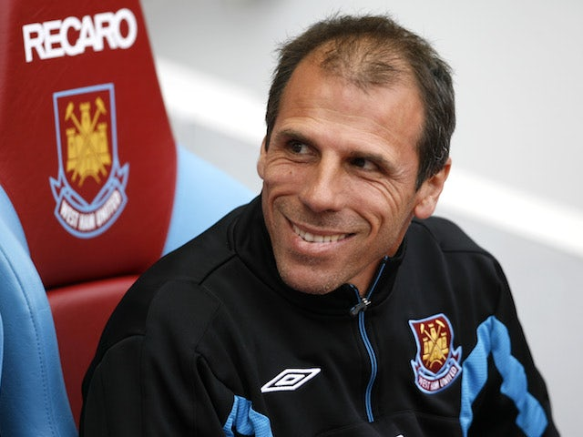 Gianfranco Zola during his time in charge of West Ham in 2010