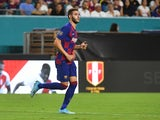 Spanish attacker Abel Ruiz pictured in action for Barcelona in August 2019