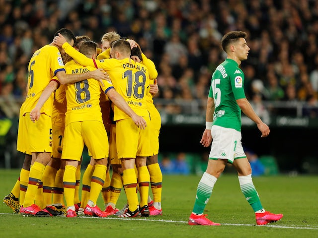Result: Lionel Messi claims three assists as Barcelona beat Real Betis