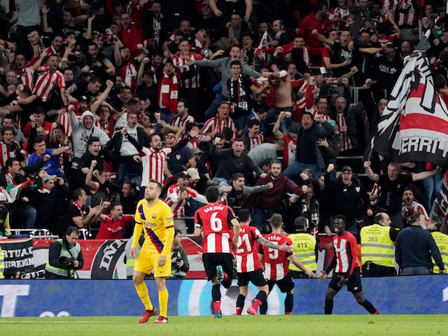 Result: Last-gasp Inaki Williams goal dumps Barcelona out of Copa del Rey