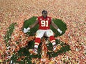 Kansas City Chiefs' Derrick Nnadi celebrates after winning the Super Bowl LIV