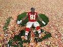 Kansas City Chiefs' Derrick Nnadi celebrates after winning the Super Bowl LIV