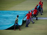 Covers are put on in the second ODI between South Africa and England on February 7, 2020