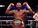 Kell Brook celebrates victory on February 8, 2020