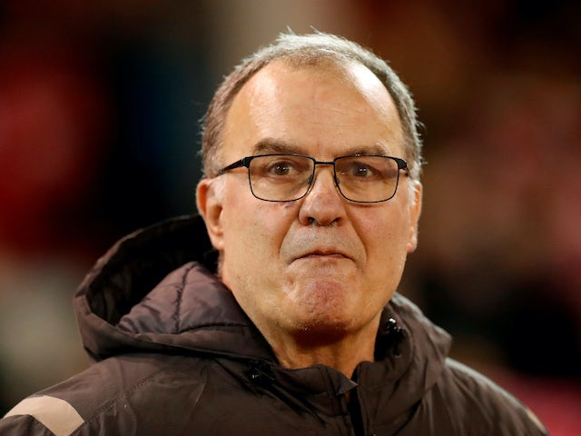 Shocked Leeds United boss Marcelo Bielsa on February 8, 2020