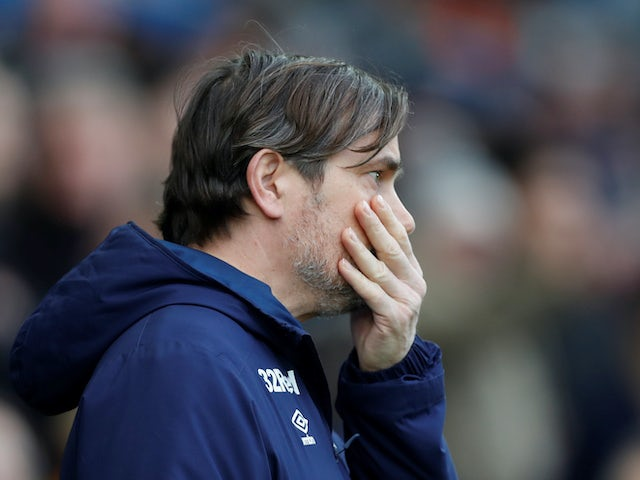 Derby manager Phillip Cocu on February 8, 2020