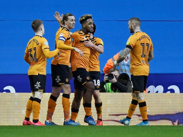 Mallik Wilks celebrates equalising for Hull City on February 8, 2020