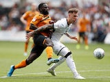 Swansea City's Joe Rodon in action with Hull City's Nouha Dicko in the Championship on August 3, 2019